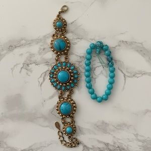 Turquoise brecelets - set of two